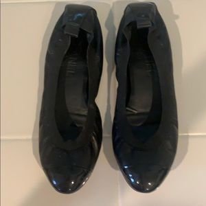 Chanel ballerina black Shoes size 38 1/2